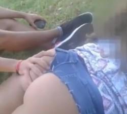 imagen REAL: se encuentran una ninfómana en el parque