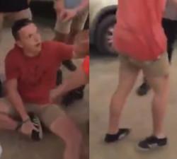 imagen Borracho andando con el tobillo roto