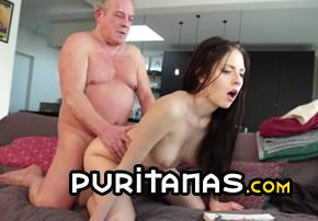 Granny shows ass