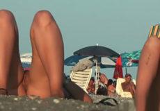 pilladas playa nudista