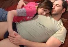 incesto hija dormida