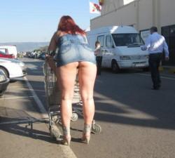 Calentando el aparcamiento del super
