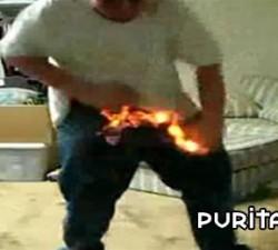 imagen el gordo en llamas