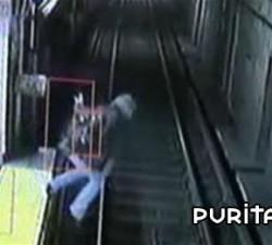 imagen la borracha en el metro