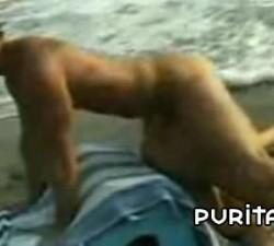 imagen toma porno a la orilla del mar