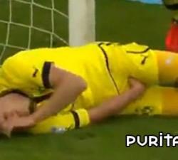 imagen dolorosa manera de parar un gol