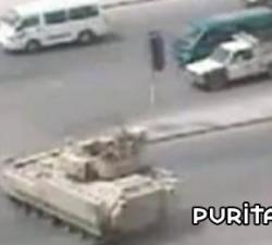 imagen un tanque en el centro urbano