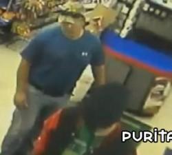 imagen bombero evita un robo en la gasolinera