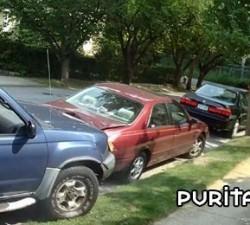 imagen empotra el coche contra el de su abuela