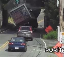 imagen camion supera la altura maxima