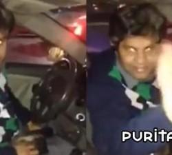 imagen taxista le roba el telefono a un cliente