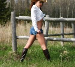 una verdadera chica de campo