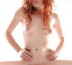 pelirroja natural hace un casting porno