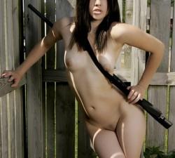 imagen una chica armada y peligrosa