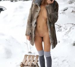 despidiendo el invierno en la nieve