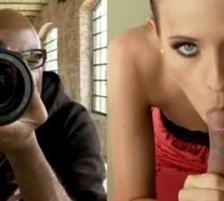 imagen modelo folla con el ayudante de fotografia